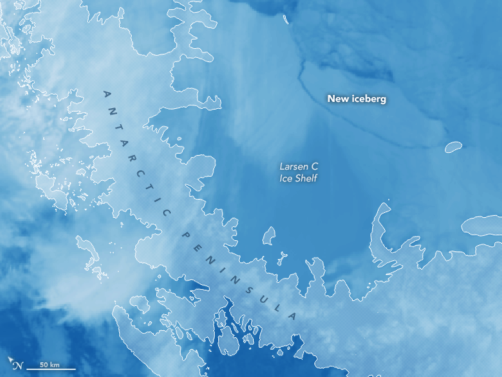 iceberg, antartica, larsen c,