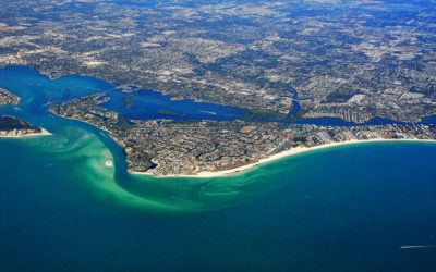 Sarasota has been safe from hurricanes for years.  Why and what about Irma?