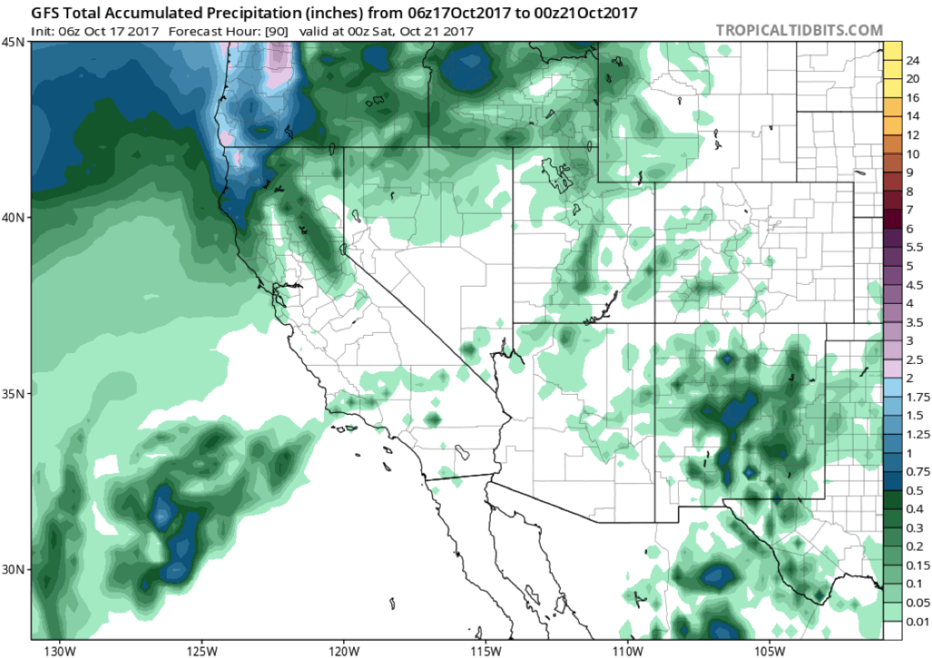 rainfall, california