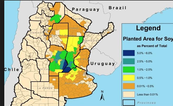 soybean, production, forecast, futures, area, argentina, grains