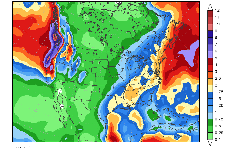 CWG, california, rainfall