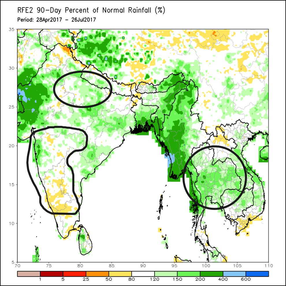 India, rainfall,