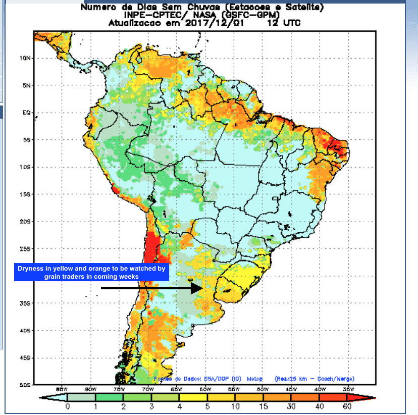 South America, Brazil, soybeans, futures, rainfall