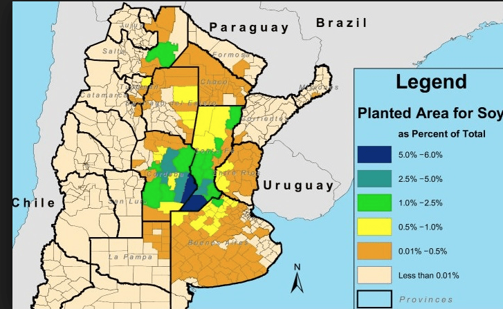 soybean, production, forecast, futures, area, argentina, grains