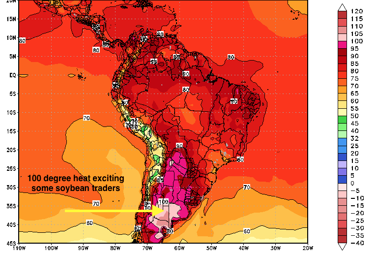 weather, south america, soybeans, futures, commodity