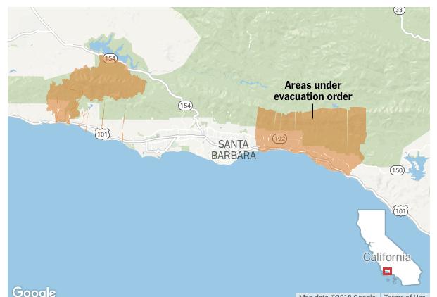 CaliforniaFire, mudslides, rainfall