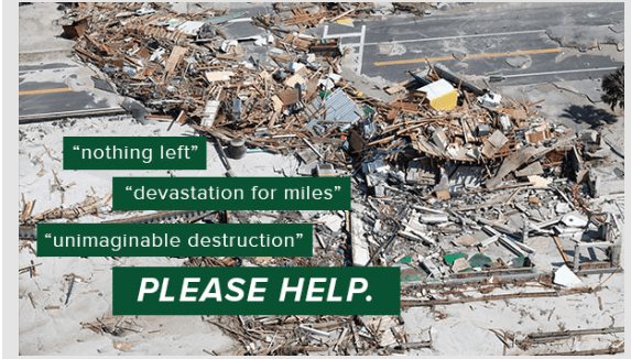 The Sierra Club's mission to help people in need from hurricane Michael