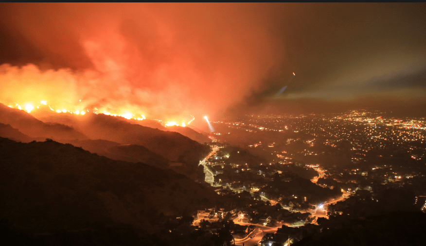The California forest fires, Climate Change and how a weak El Nino could enhance a cold and snowy U.S. winter
