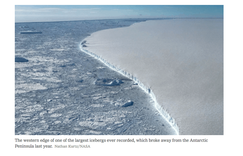 Antarctica is melting three times as fast, compared to a decade ago