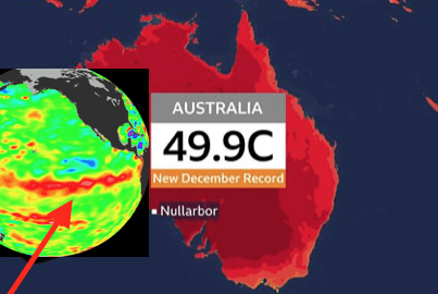 As Australia burns up, Where else are the signs of a return of El Nino conditions?