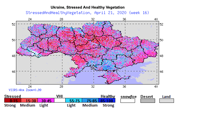 Extended dryness in Ukraine wheat areas