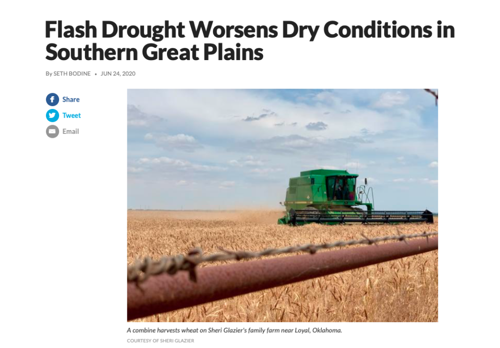 Drought worsens Southern great plains weather