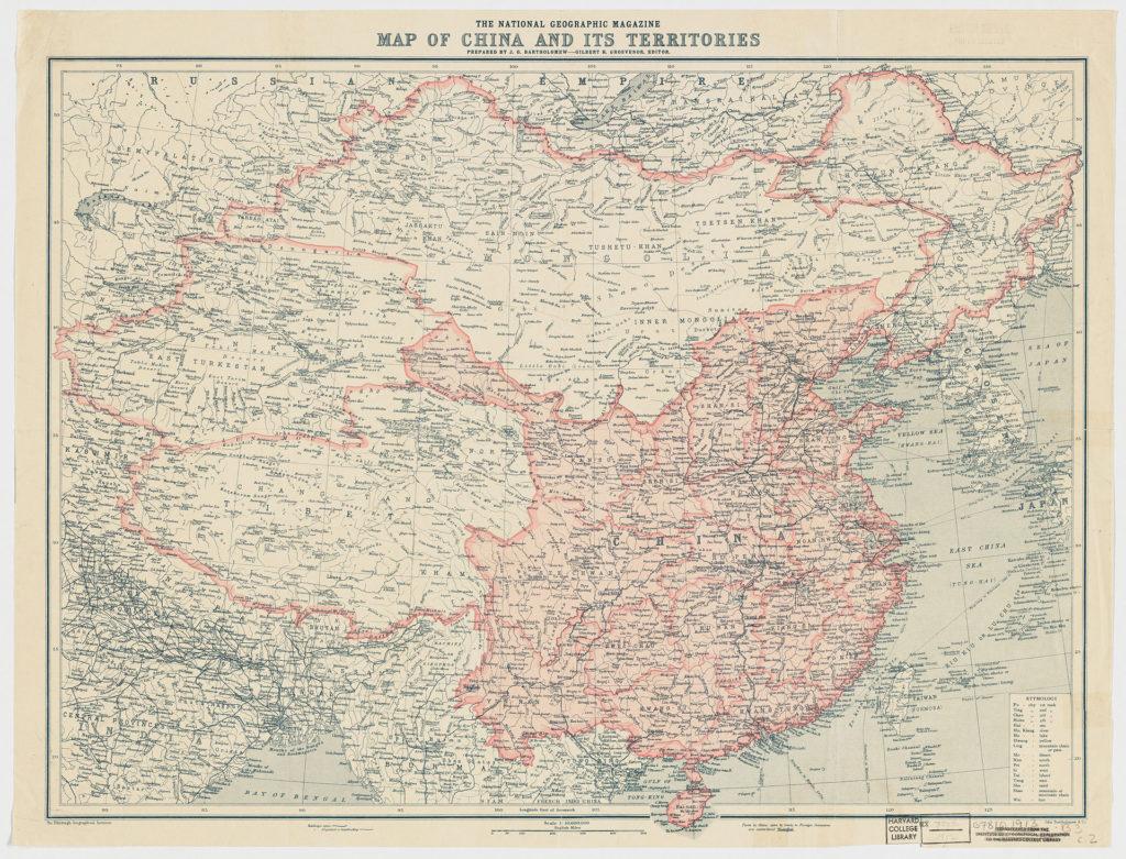 Map of China 1911
