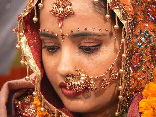 Indian bride with gold