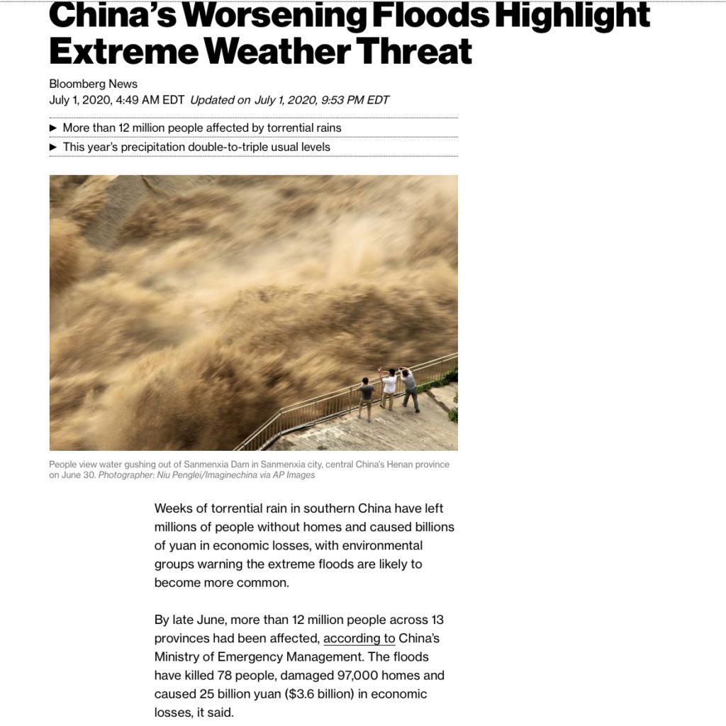 China flood weather may impact corn