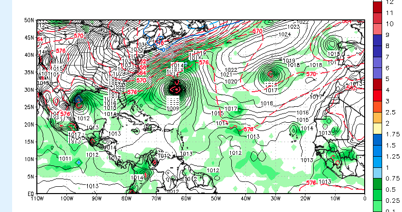 Potential Gulf storm next week.