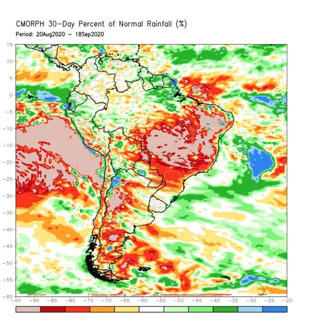 Precipitation in Brazil